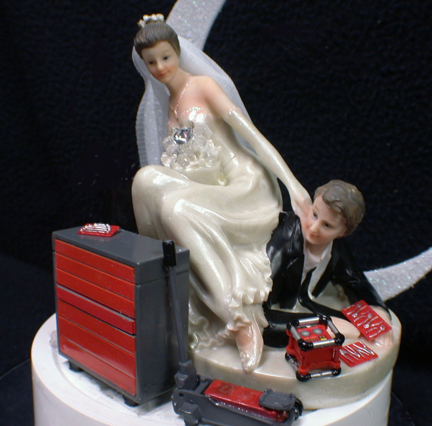 mechanic wedding cake toppers car auto mechanic tools wedding cake topper amp groom 17250
