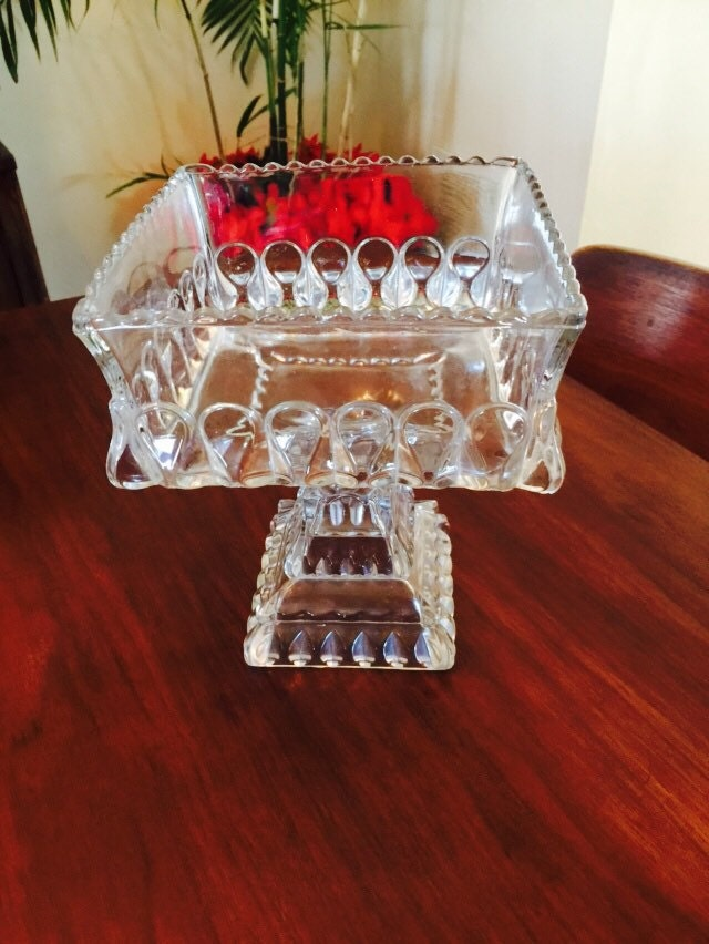 box wedding cake stand vintage large glass compote bowl cake stand box wedding 12115